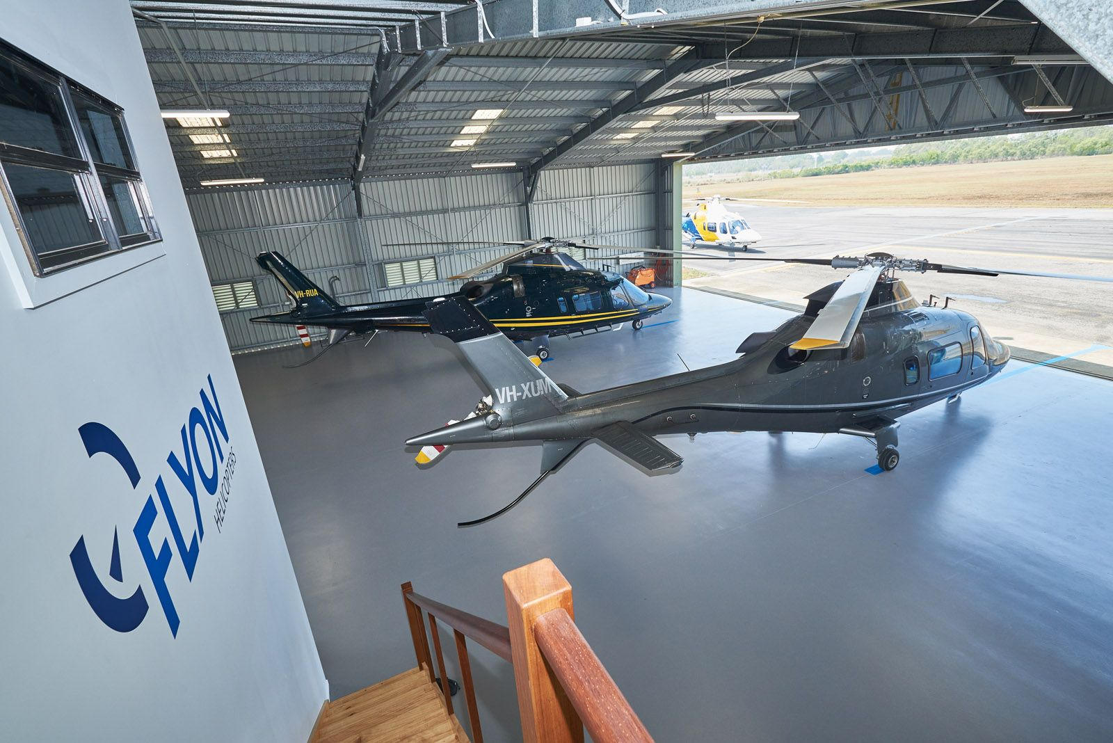 New hanger and facilities